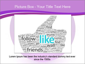Lilac Twitter Icon PowerPoint Templates - Slide 15