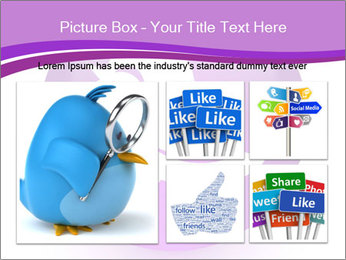 Lilac Twitter Icon PowerPoint Templates - Slide 19
