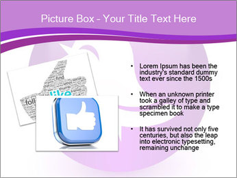 Lilac Twitter Icon PowerPoint Templates - Slide 20