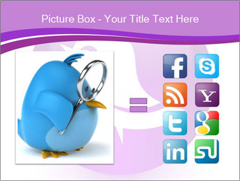 Lilac Twitter Icon PowerPoint Templates - Slide 21