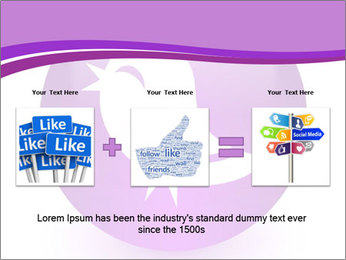 Lilac Twitter Icon PowerPoint Templates - Slide 22