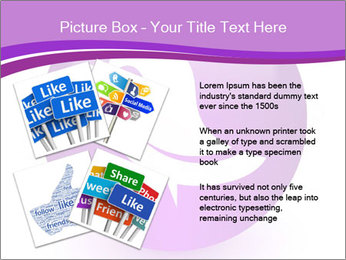 Lilac Twitter Icon PowerPoint Templates - Slide 23
