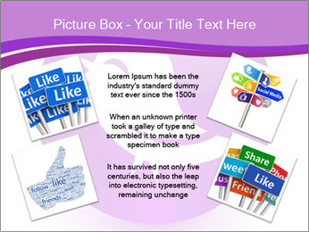 Lilac Twitter Icon PowerPoint Templates - Slide 24