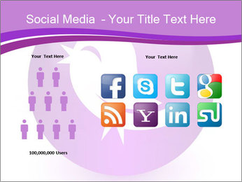 Lilac Twitter Icon PowerPoint Templates - Slide 5
