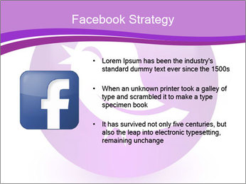 Lilac Twitter Icon PowerPoint Templates - Slide 6