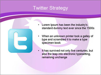 Lilac Twitter Icon PowerPoint Templates - Slide 9