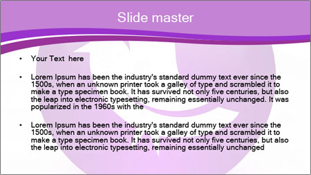 Lilac Twitter Icon PowerPoint Template - Slide 2