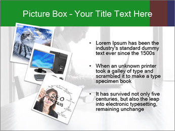 Busy Woman In Empty Conference Room PowerPoint Template - Slide 17