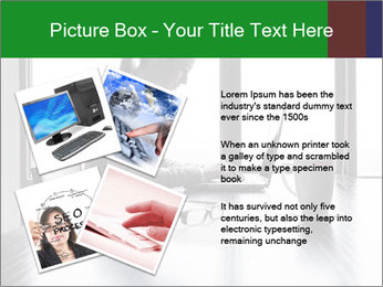 Busy Woman In Empty Conference Room PowerPoint Template - Slide 23