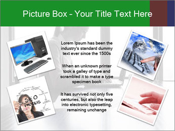 Busy Woman In Empty Conference Room PowerPoint Template - Slide 24