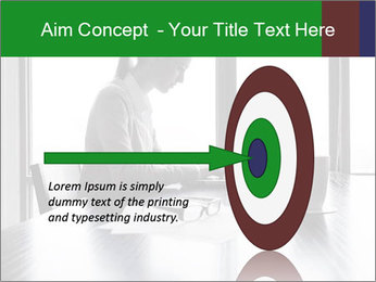 Busy Woman In Empty Conference Room PowerPoint Template - Slide 83