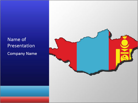 Mongolia Flag PowerPoint Templates