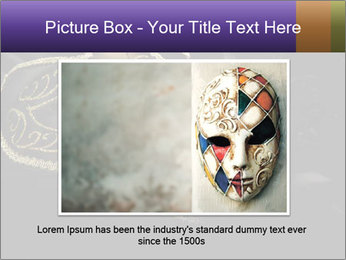 Golden Venice Mask PowerPoint Template - Slide 15
