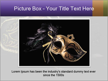 Golden Venice Mask PowerPoint Template - Slide 16