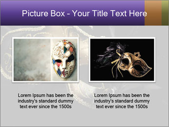 Golden Venice Mask PowerPoint Template - Slide 18