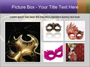 Golden Venice Mask PowerPoint Template - Slide 19