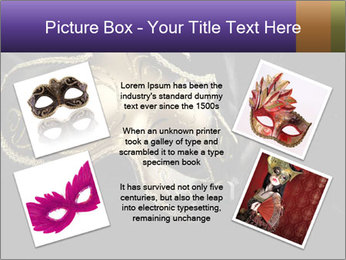 Golden Venice Mask PowerPoint Template - Slide 24