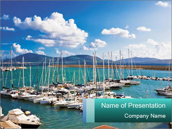 Yachting Concept PowerPoint Template - Slide 1