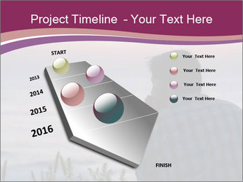 Senior Man Gazing Sunset PowerPoint Templates - Slide 26