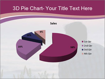 Senior Man Gazing Sunset PowerPoint Templates - Slide 35