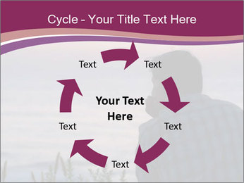 Senior Man Gazing Sunset PowerPoint Templates - Slide 62