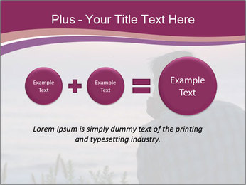 Senior Man Gazing Sunset PowerPoint Templates - Slide 75