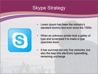 Senior Man Gazing Sunset PowerPoint Templates - Slide 8