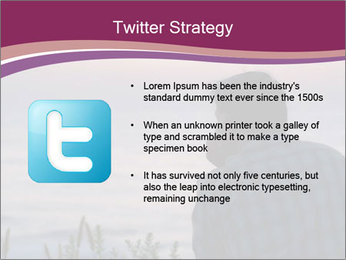 Senior Man Gazing Sunset PowerPoint Templates - Slide 9
