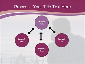 Senior Man Gazing Sunset PowerPoint Templates - Slide 91