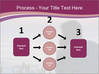 Senior Man Gazing Sunset PowerPoint Templates - Slide 92