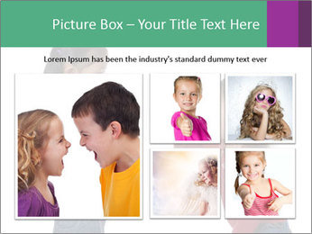 Two Girls Yelling PowerPoint Template - Slide 19