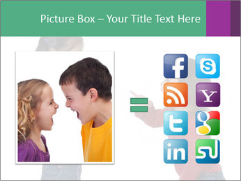 Two Girls Yelling PowerPoint Template - Slide 21