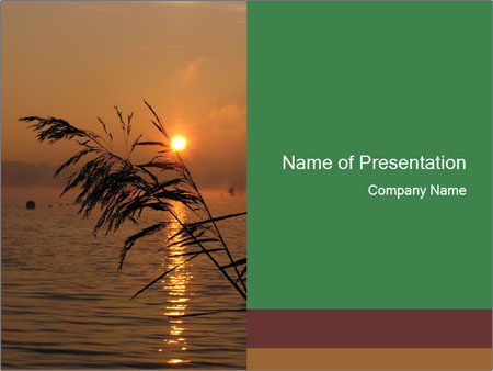 Mysterious River During Sunset PowerPoint Templates
