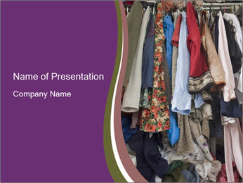 Overfilled Wardrobe PowerPoint Template