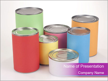 Containers With Colors PowerPoint Template