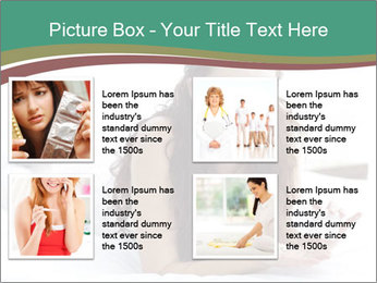 Beautiful Brunette Lady PowerPoint Template - Slide 14