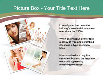 Beautiful Brunette Lady PowerPoint Template - Slide 23