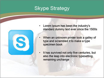 Beautiful Brunette Lady PowerPoint Template - Slide 8