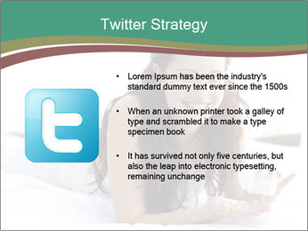Beautiful Brunette Lady PowerPoint Template - Slide 9