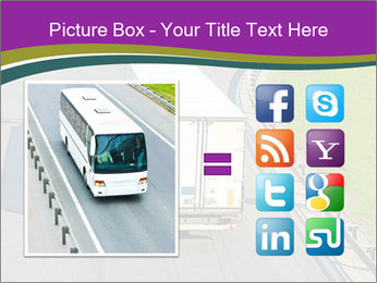 Truck On Road PowerPoint Template - Slide 21