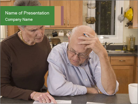 Frustrated Grandfather PowerPoint Template