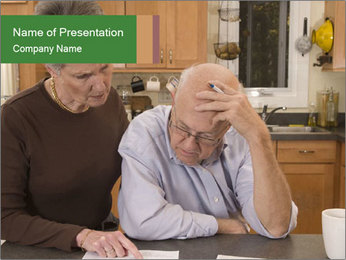 Frustrated Grandfather PowerPoint Template - Slide 1