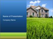 House And Green Lawn PowerPoint Template