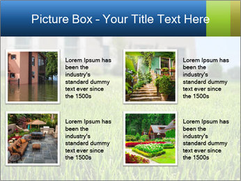 House And Green Lawn PowerPoint Templates - Slide 14
