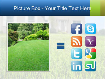 House And Green Lawn PowerPoint Templates - Slide 21