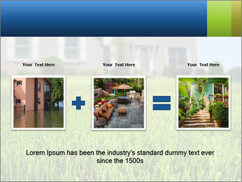 House And Green Lawn PowerPoint Templates - Slide 22