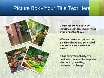 House And Green Lawn PowerPoint Template - Slide 23