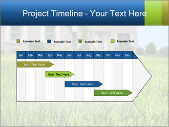 House And Green Lawn PowerPoint Templates - Slide 25