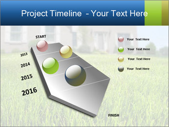 House And Green Lawn PowerPoint Templates - Slide 26