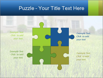 House And Green Lawn PowerPoint Templates - Slide 43